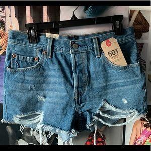 Levi's 501 Medium Indigo Denim Shorts